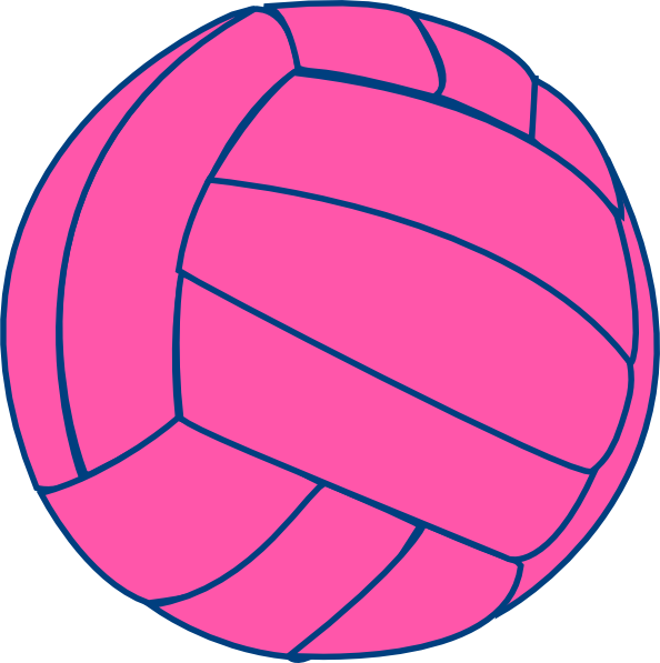 Thin clip art at. Volleyball clipart pink