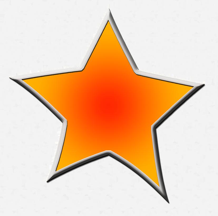 Star dark blue framed. Comet clipart drawn