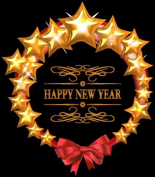 Clipart star winter. Happy new year stars