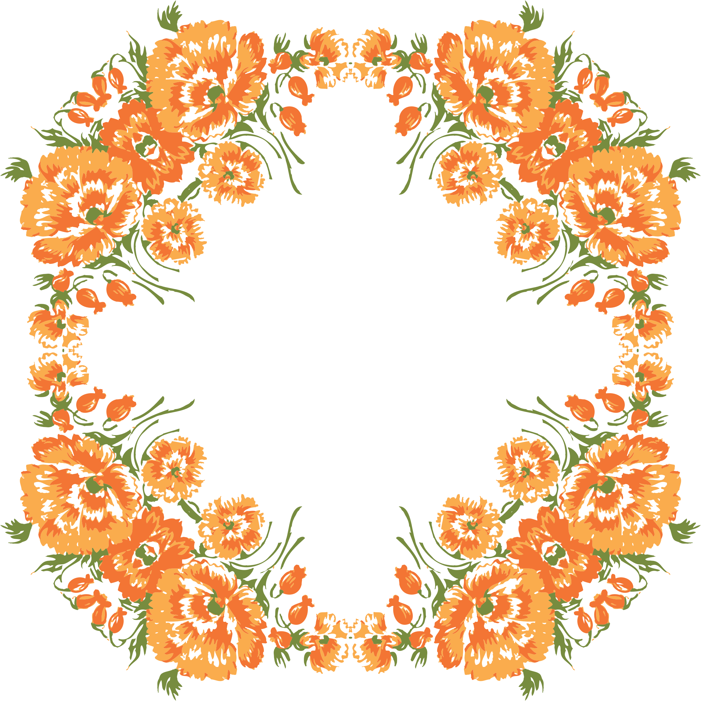 Flower clipart wreath. Floral frame icons png