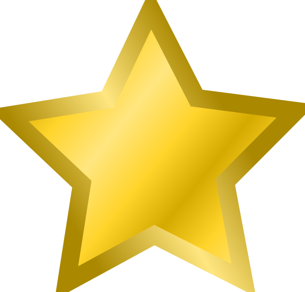 Hollywood clipart golden star. Yellow clip art at