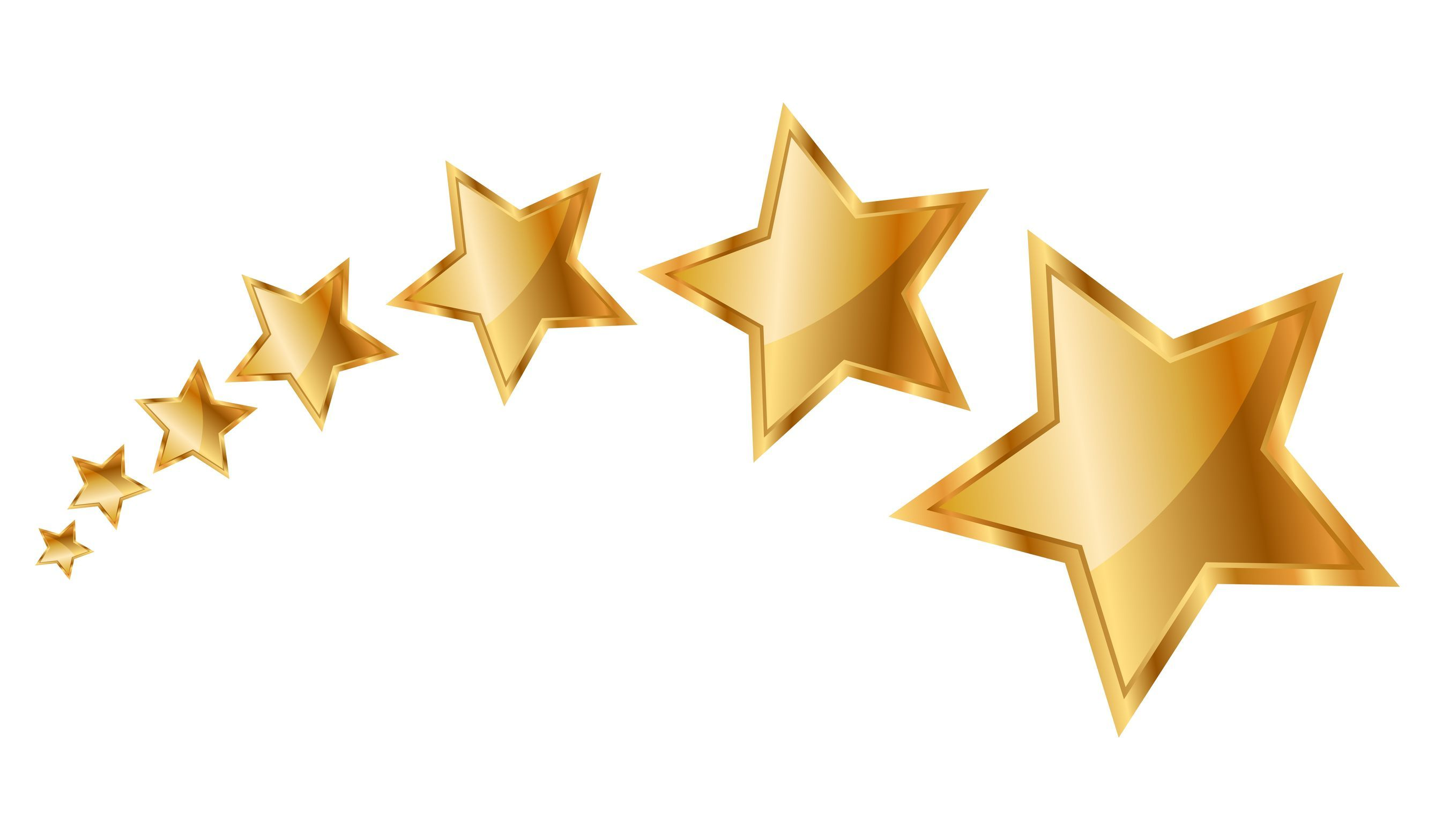 Gold star and animated. Clipart stars