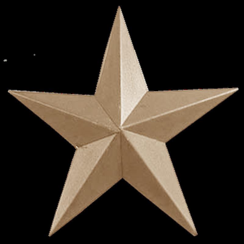 Star metal lt tan. Clipart stars accent