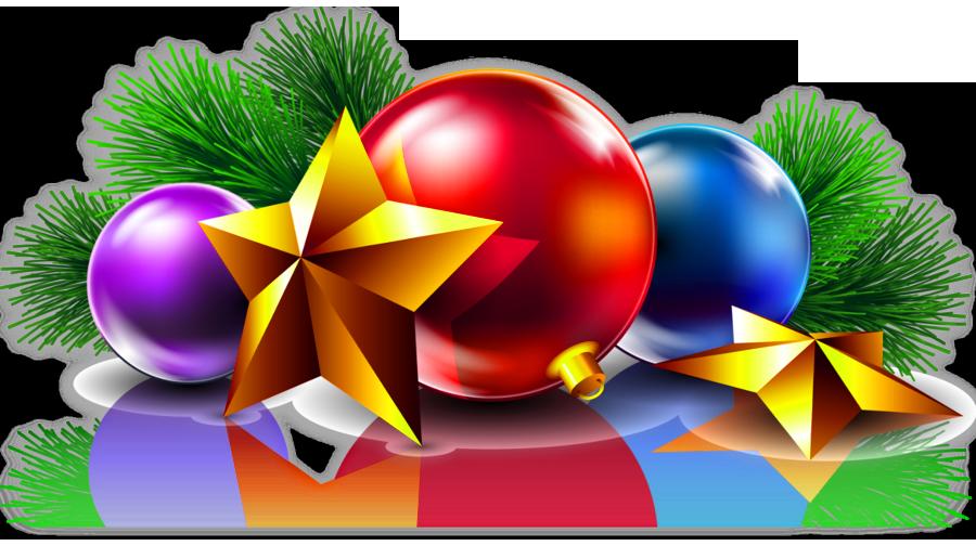 Transparent christmas balls and. Clipart stars ball