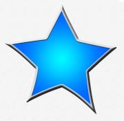 Clipart stars blue. Star framed