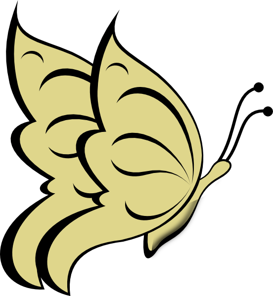 Gold clipart pure gold. Butterfly clip art at