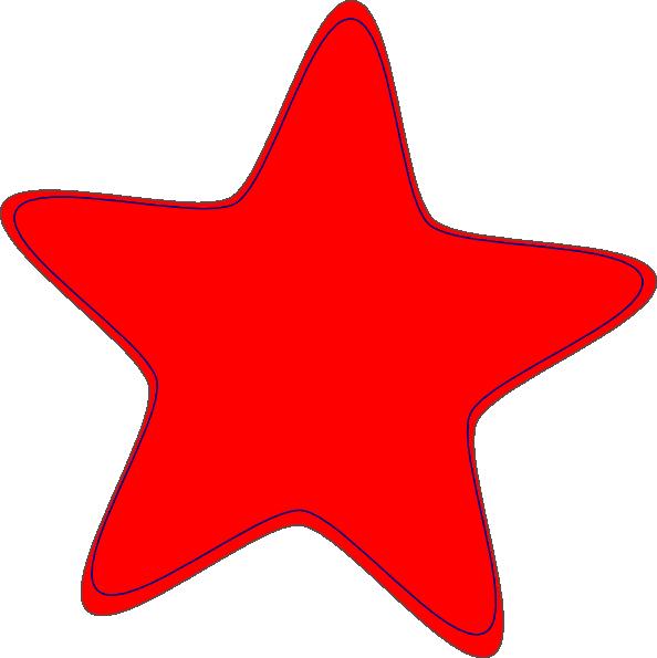 Clipart stars cartoon. Red star clip art