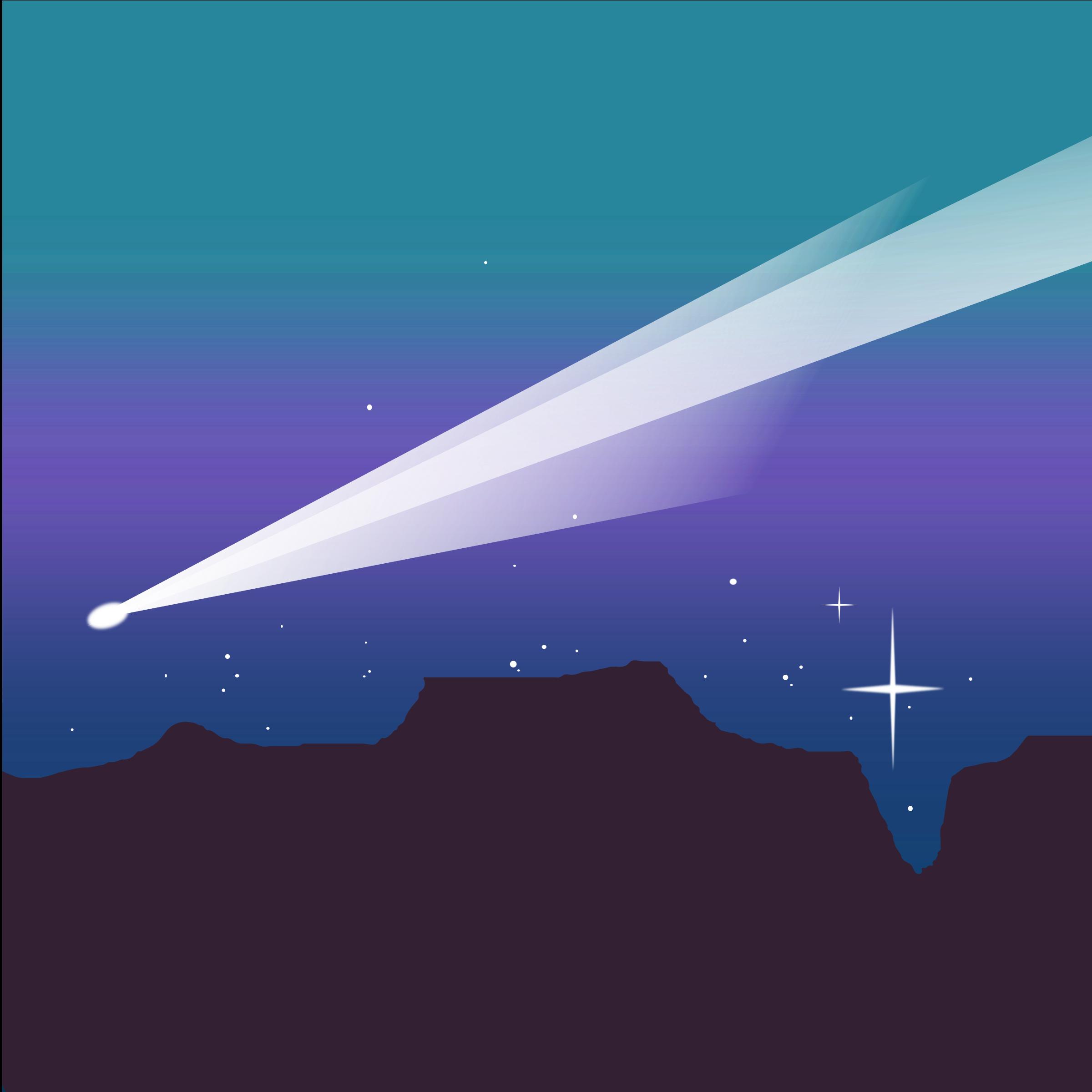 Comet clipart comet space. Desert big image png