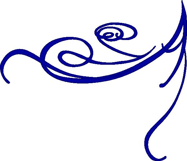 Blue clip art at. Garland clipart corner