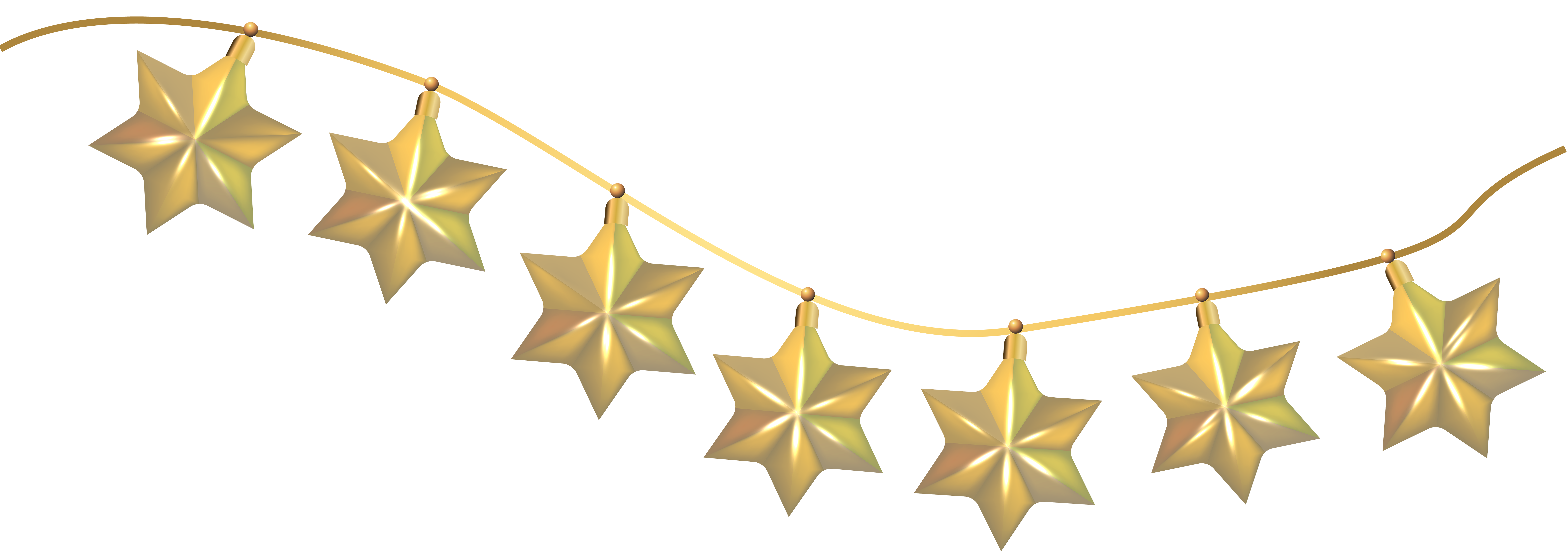 Hanging decoration png clip. Garland clipart stars