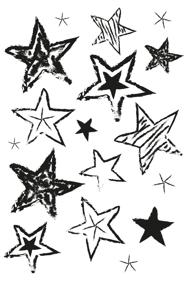 This is a picture of Sweet Drawing Of Stars