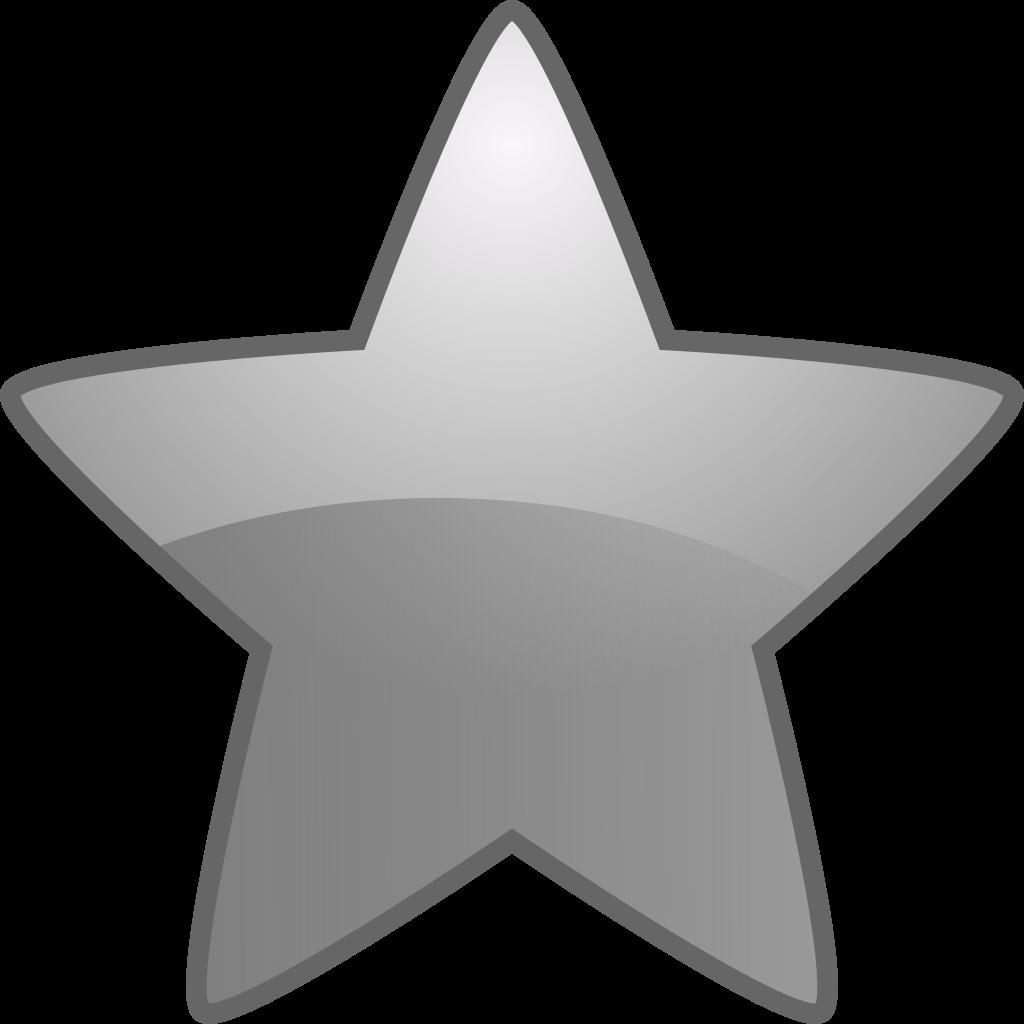 File fairytale bookmark silver. Clipart stars emoji