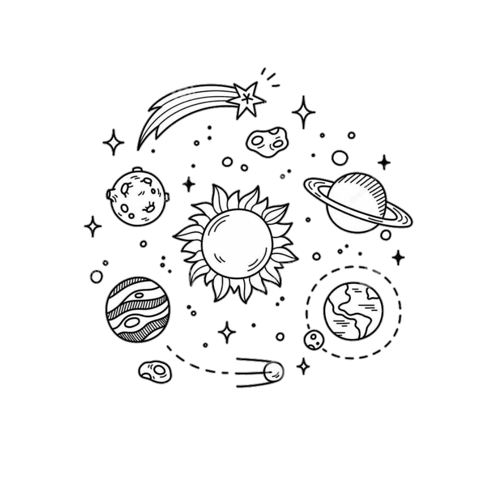 Tumblr blackandwhite galaxy stars. Planets clipart star