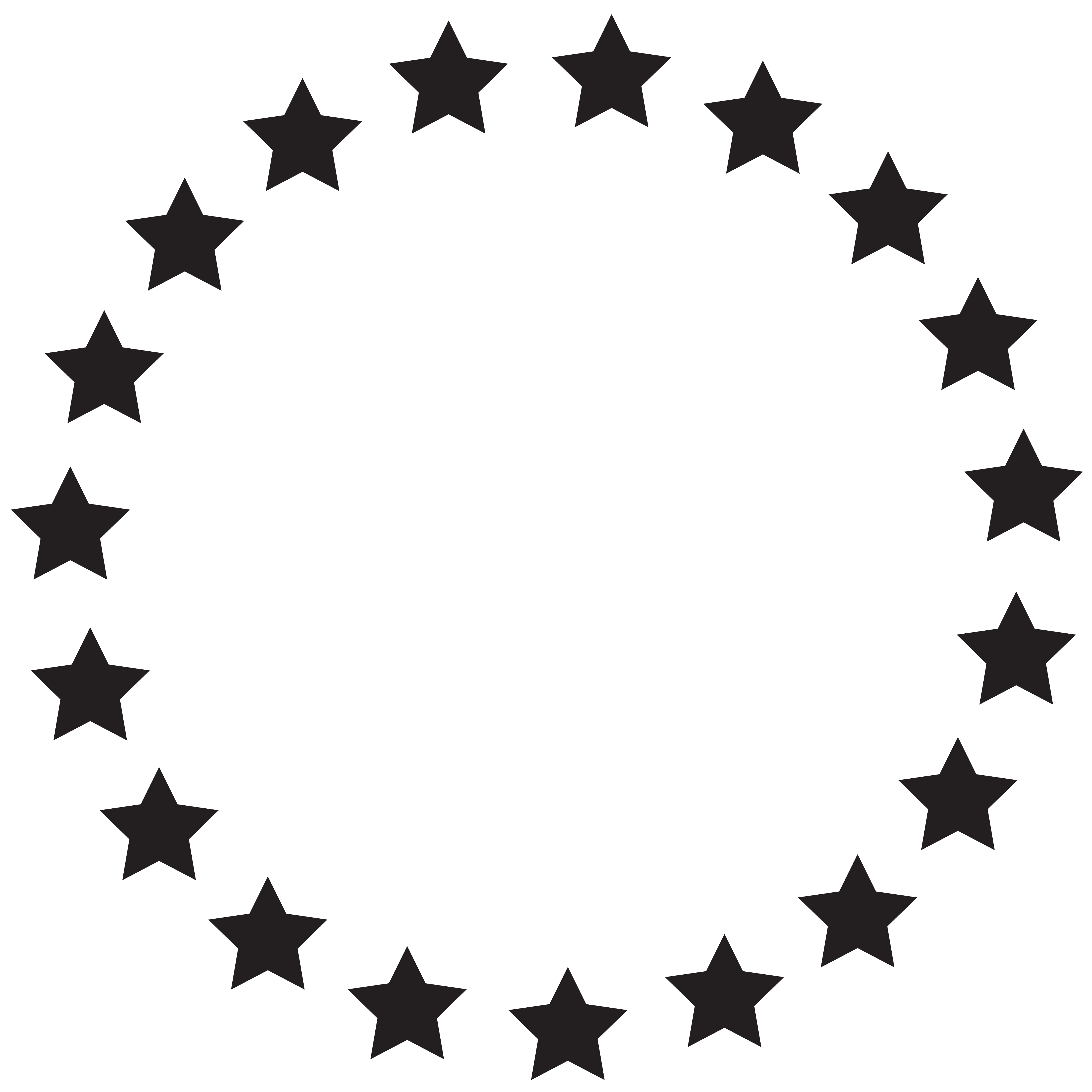 Picture clipart circle. Of stars