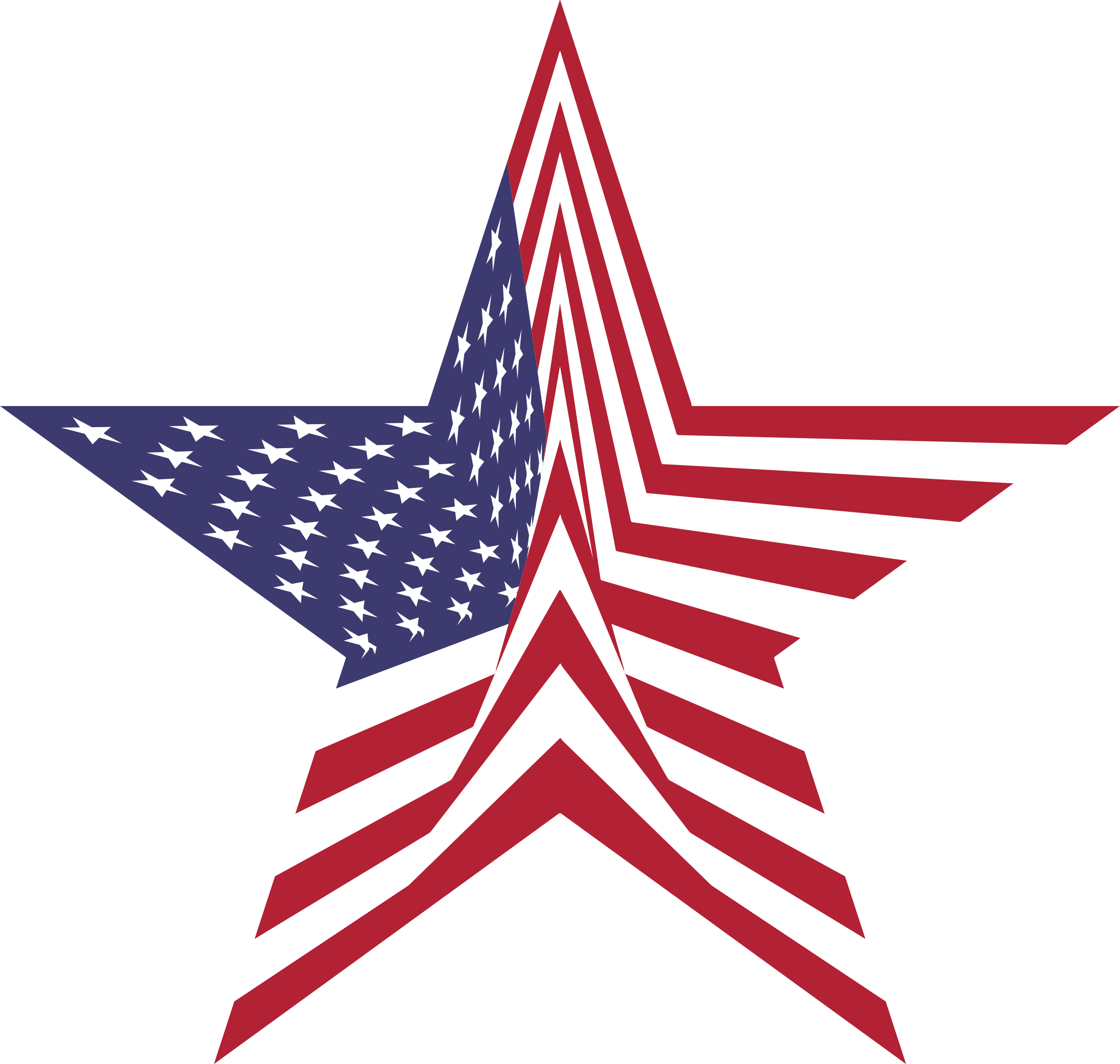 America flag star big. Clipart stars pdf