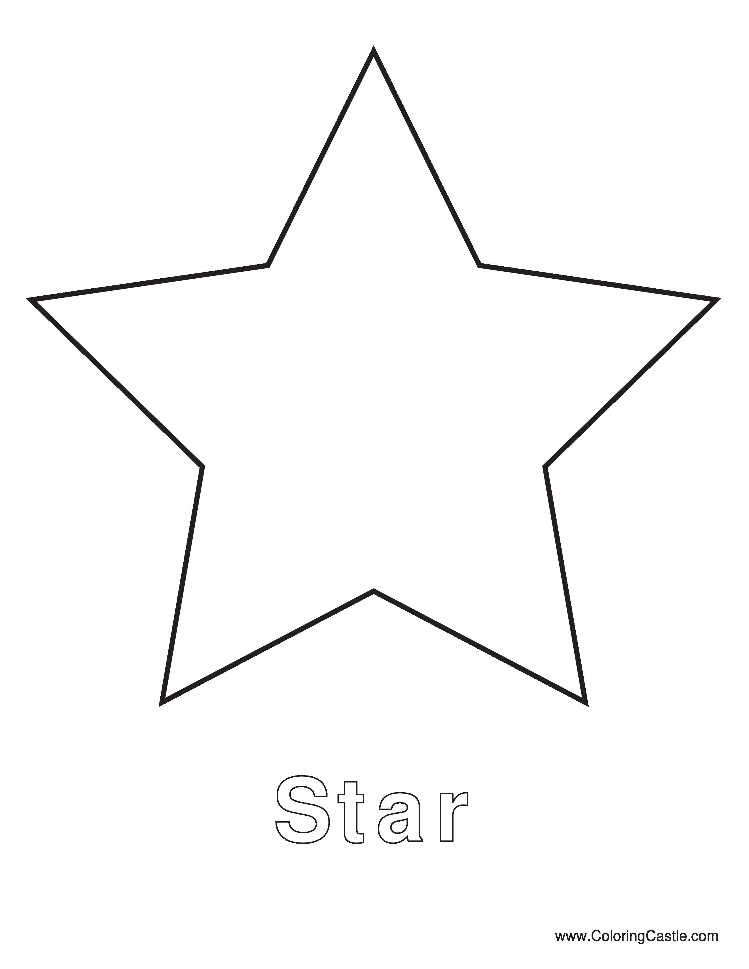Simple star template christmas. Clipart stars pdf
