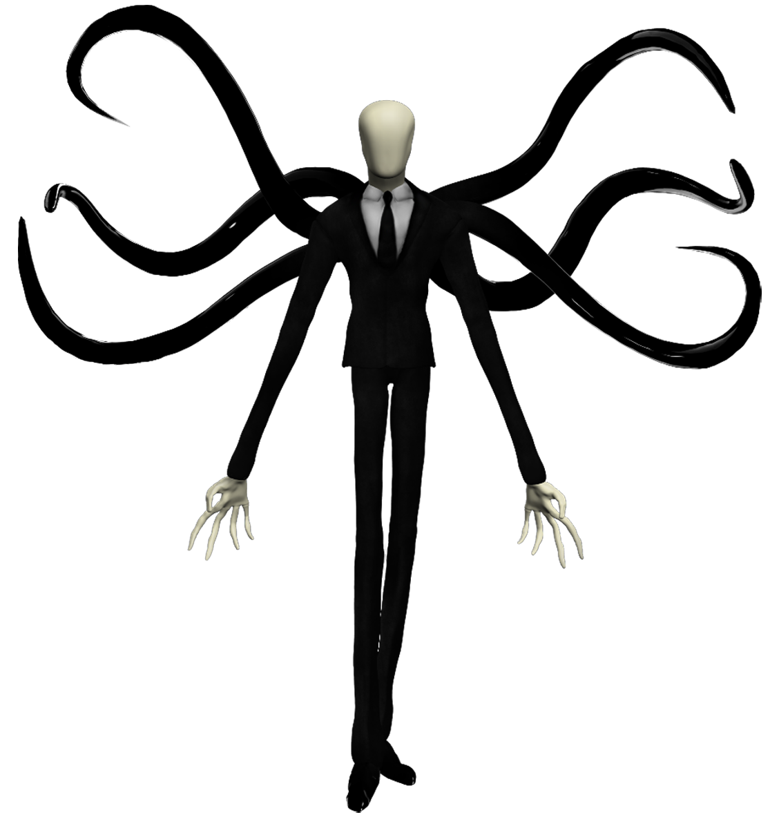 Clipart walking tall man. Slender playstation all stars
