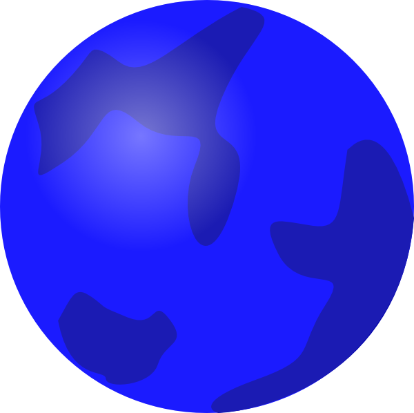 Globe clip art at. Design clipart blue