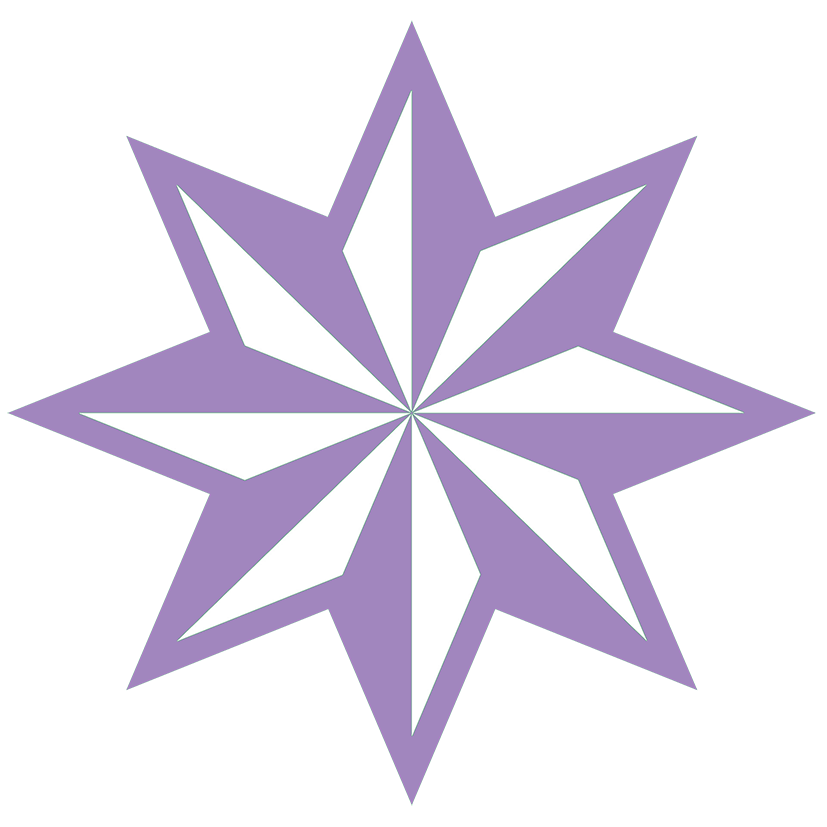 Clipart stars purple. Star lila faceted pointed