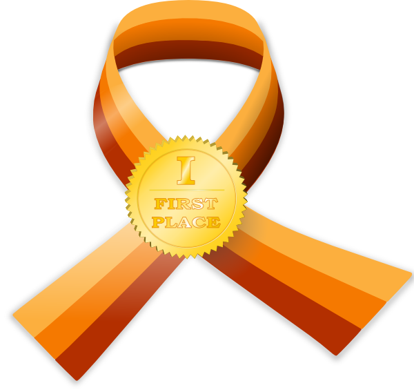 Race clipart prize presentation. Contest award gold clip