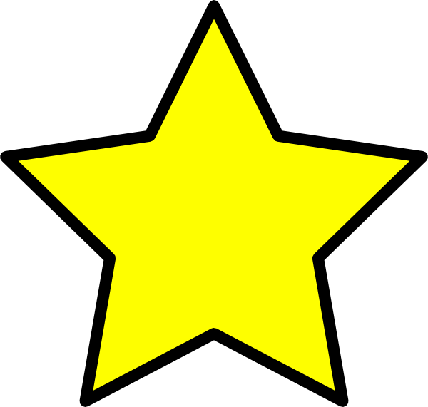 Free yellow clip art. Proud clipart star