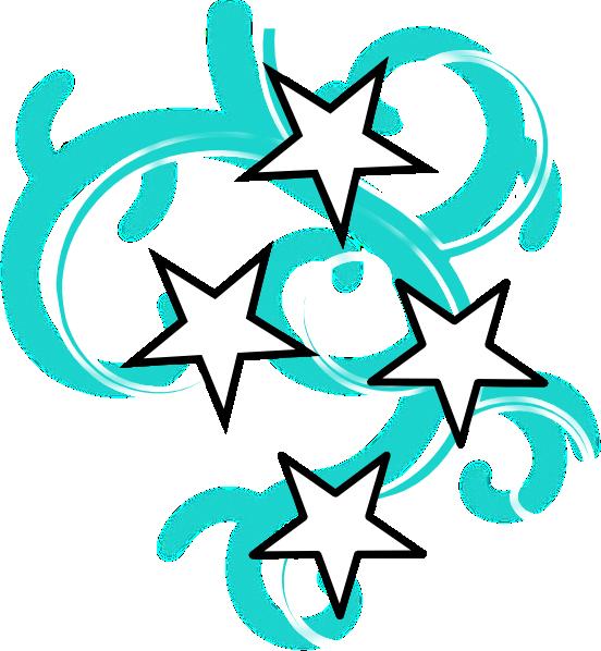 Clipart stars swirl. Teal and white tattoo