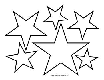 Star outline images of. Clipart stars template