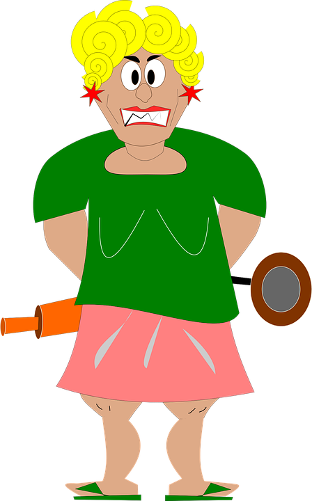 Mad clipart tirade. Collection of angry woman