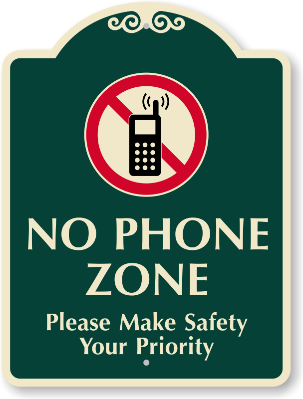 Outdoor no signs zoom. Student clipart cell phone