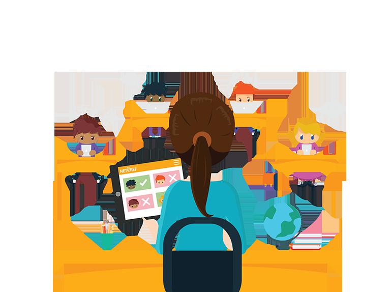 Report clipart school data. Netref personalize internet access