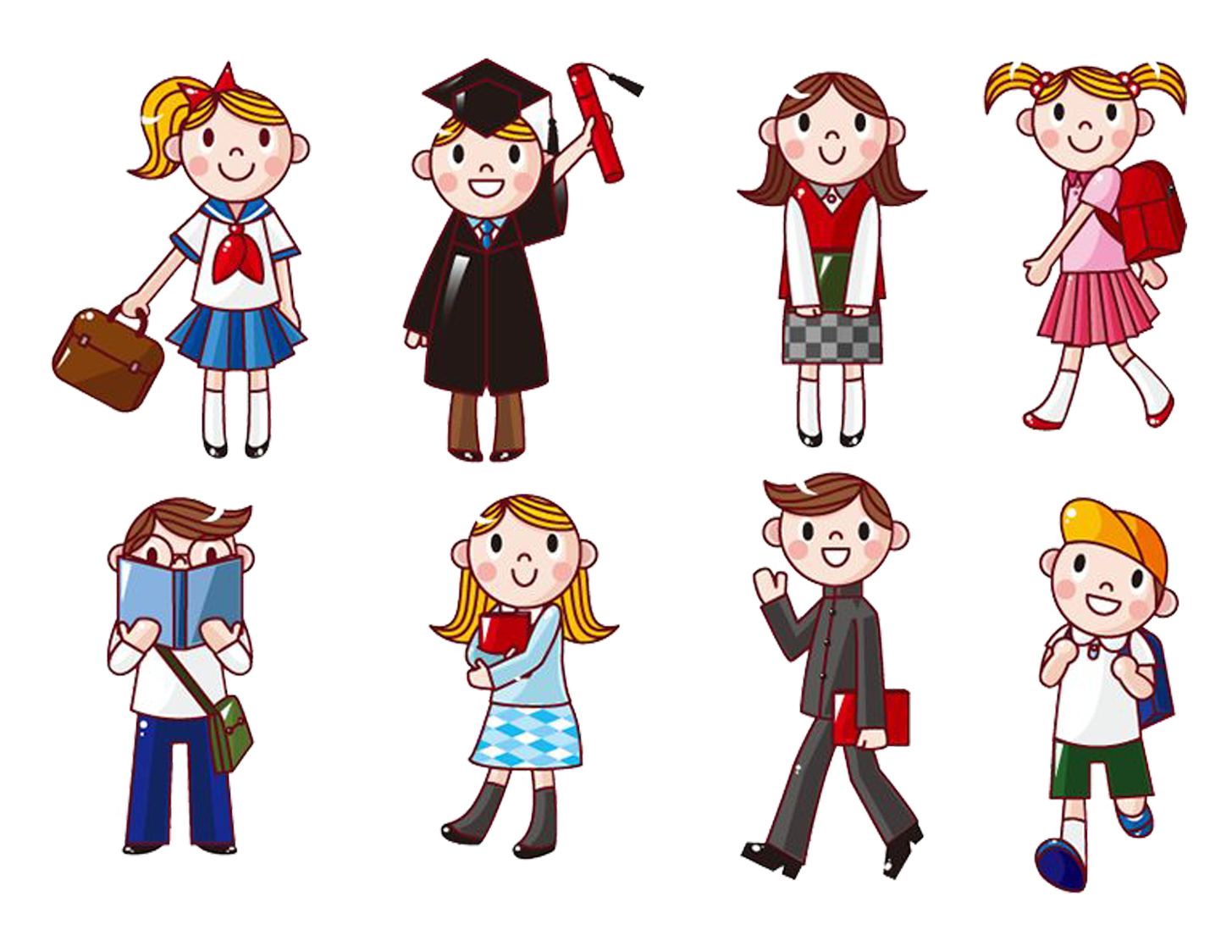 Human clipart college student. Cartoon computer icons clip