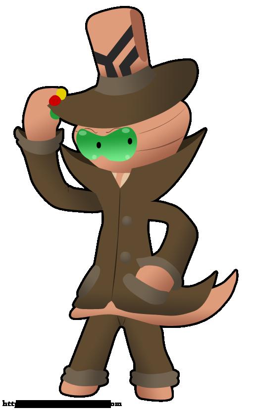 Reggie the alien by. Detective clipart detective hat