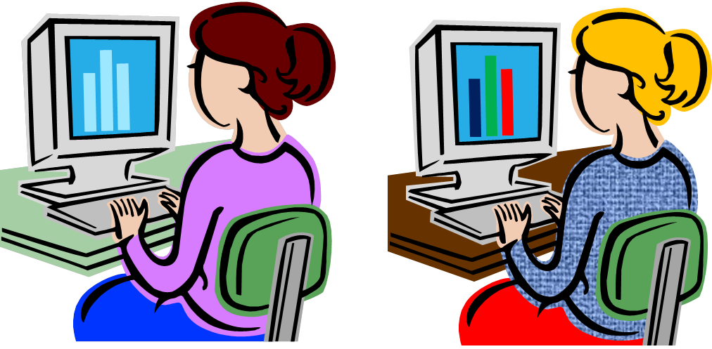 Educational technology lesson roles. Organized clipart instruction