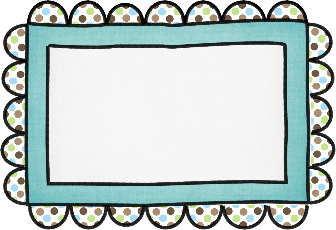 Frame clipart hand. Drawn printables from rainbow