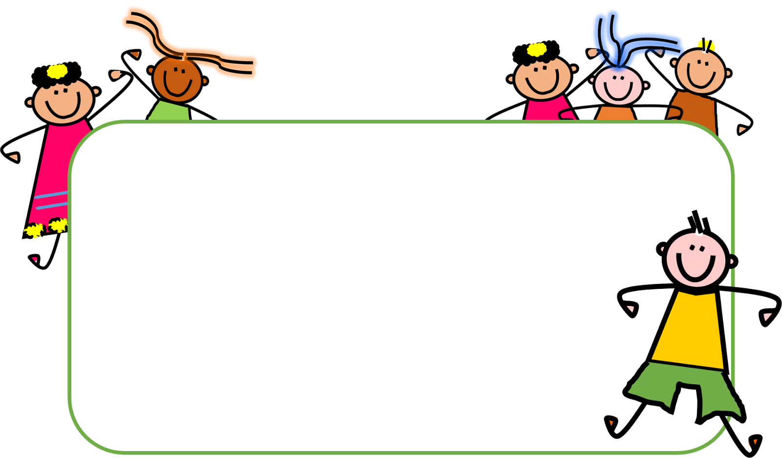 Joy clipart frame.  collection of kids
