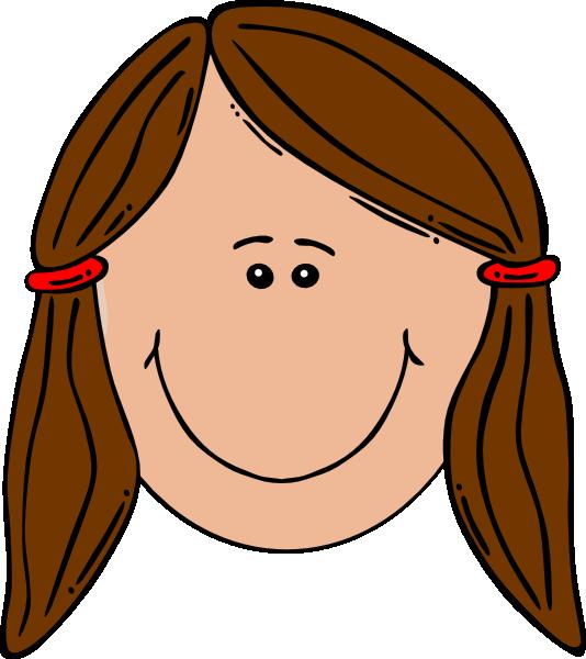 Girl . Computers clipart head