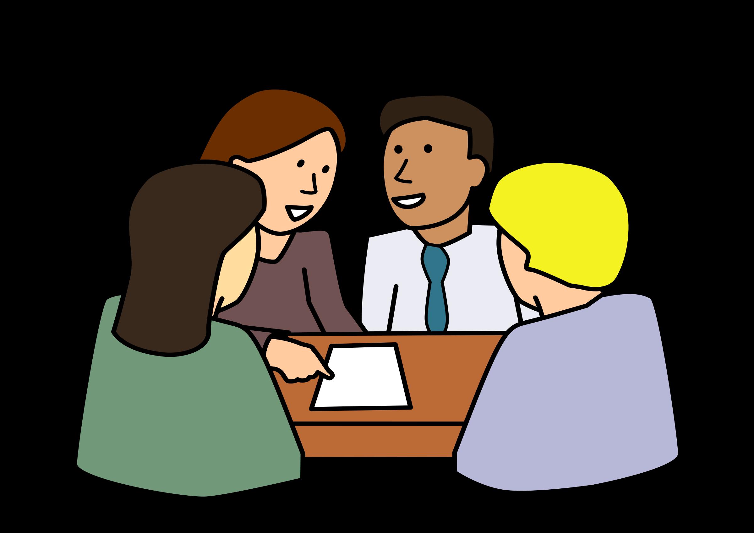 Diverse high school council. Conversation clipart study group