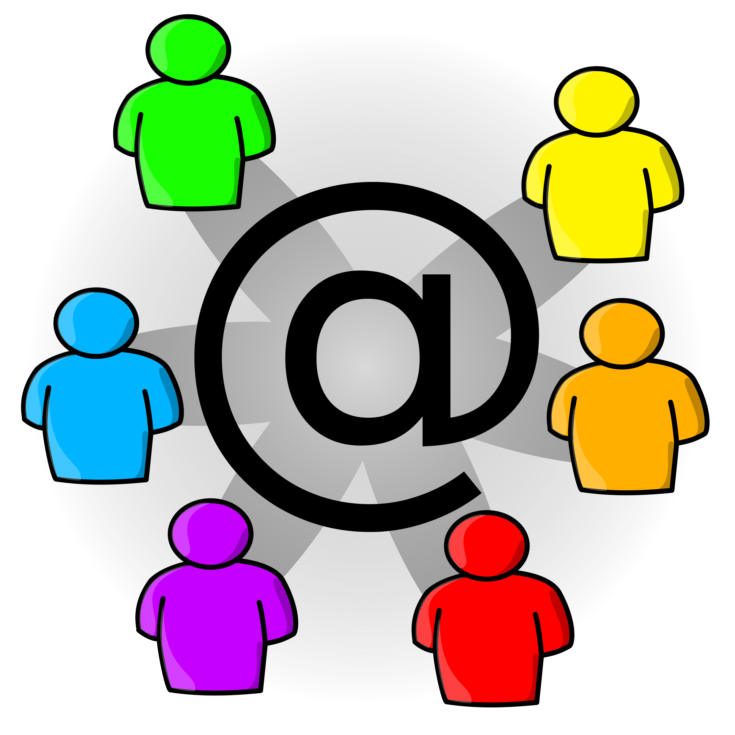 Mailing list icon big. Conversation clipart in depth