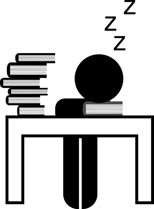 Student occupational hazard icons. Night clipart all