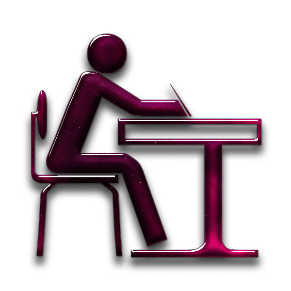 Computer icons essay writing. Student clipart icon