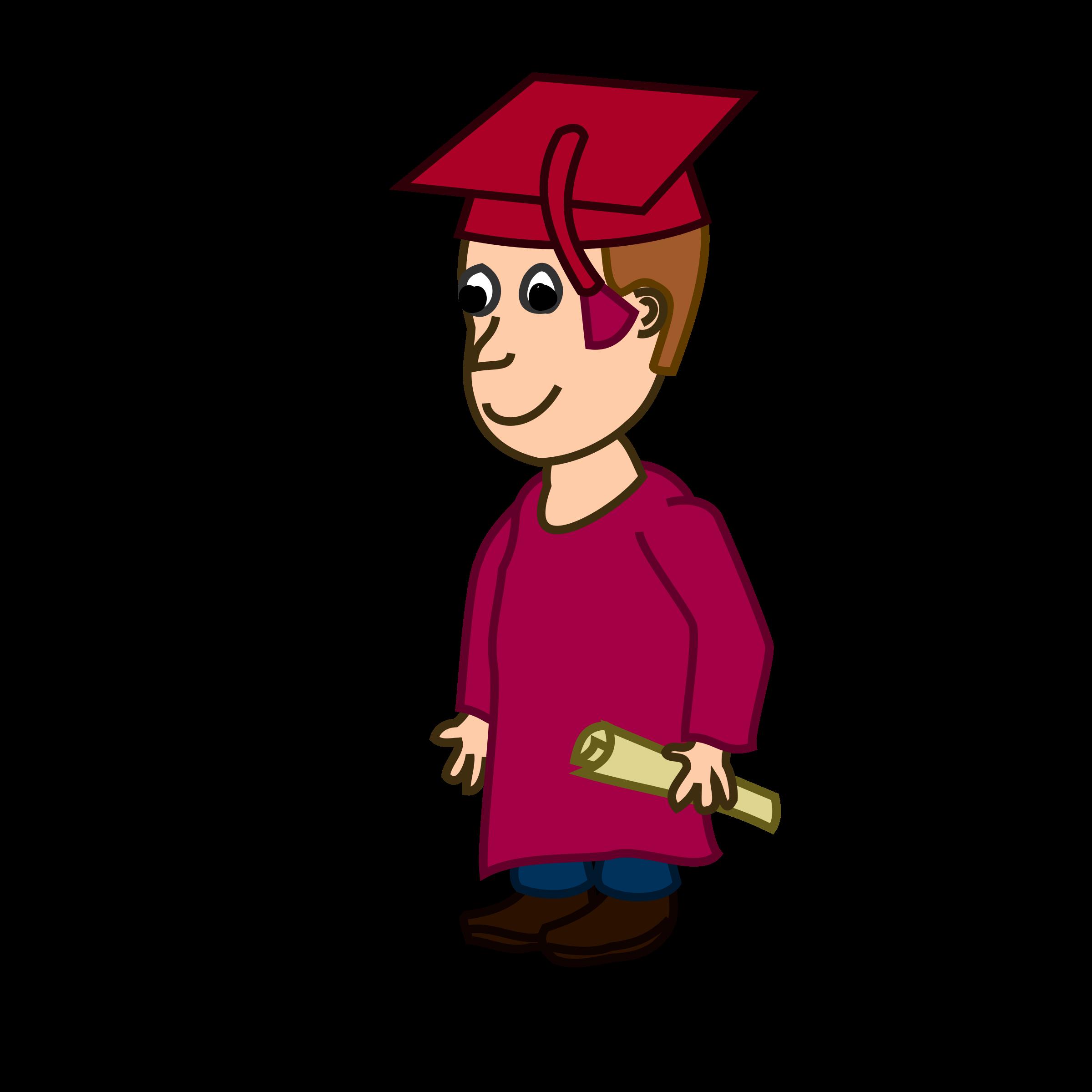 Graduation graduate. Student clipart character