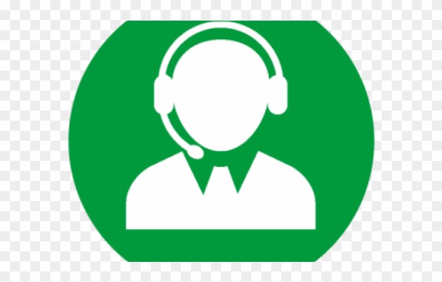 Services desk logo . Headphones clipart student centers