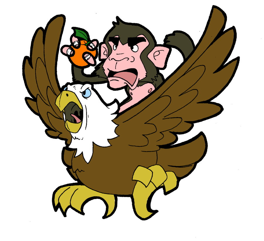 Orange monkey eagle by. Library clipart library closed