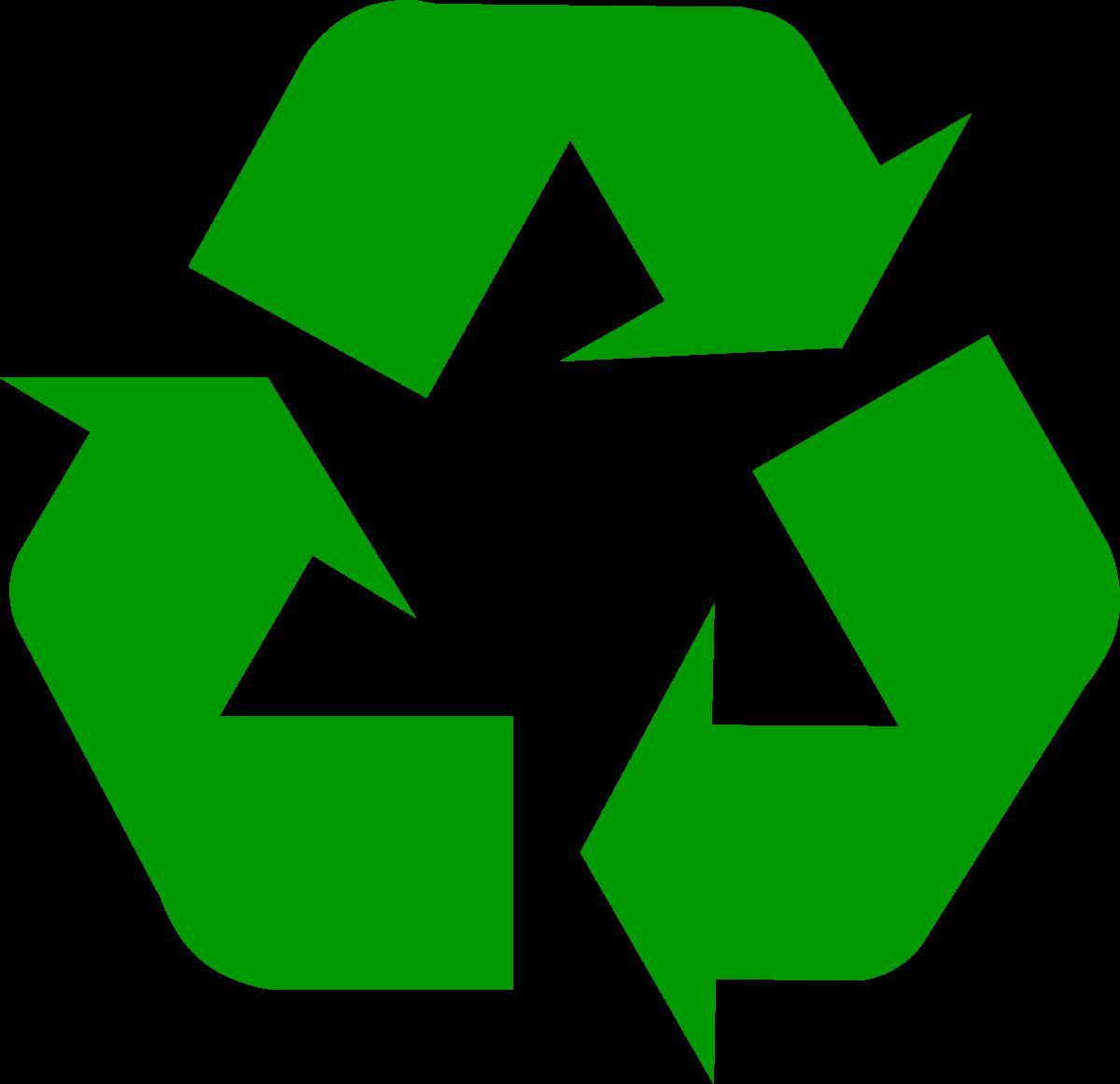 Dark green universal symbol. Environment clipart recycling