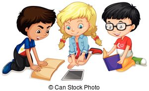 Clipart student teamwork. Free group work cliparts