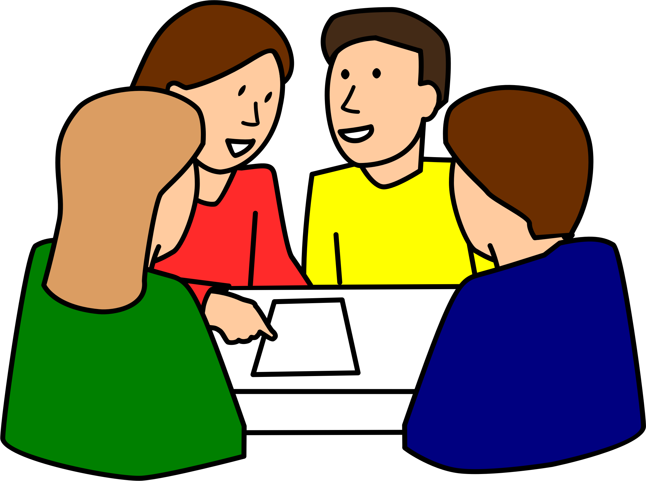 Conversation clipart structure kagan. Students group work by