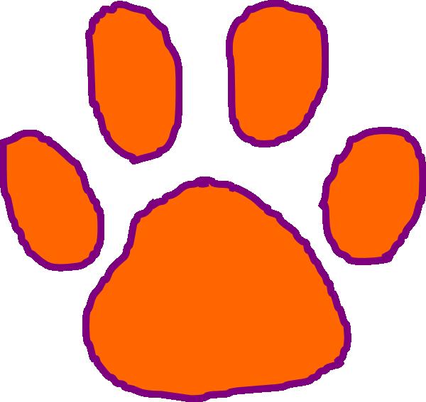 Clemson paw clip art. Student clipart tiger