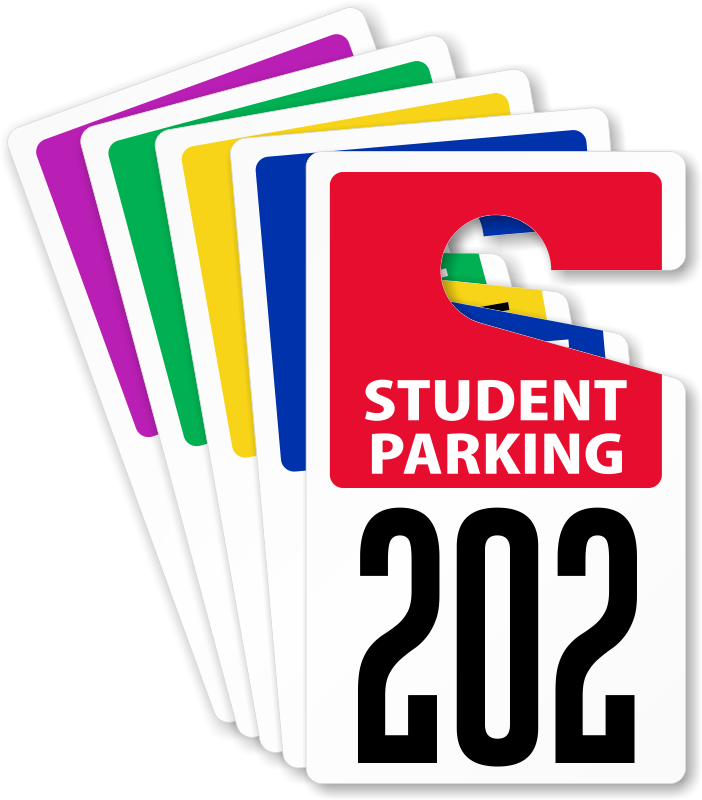 Customizable student permits zoom. Parking lot clipart parking permit
