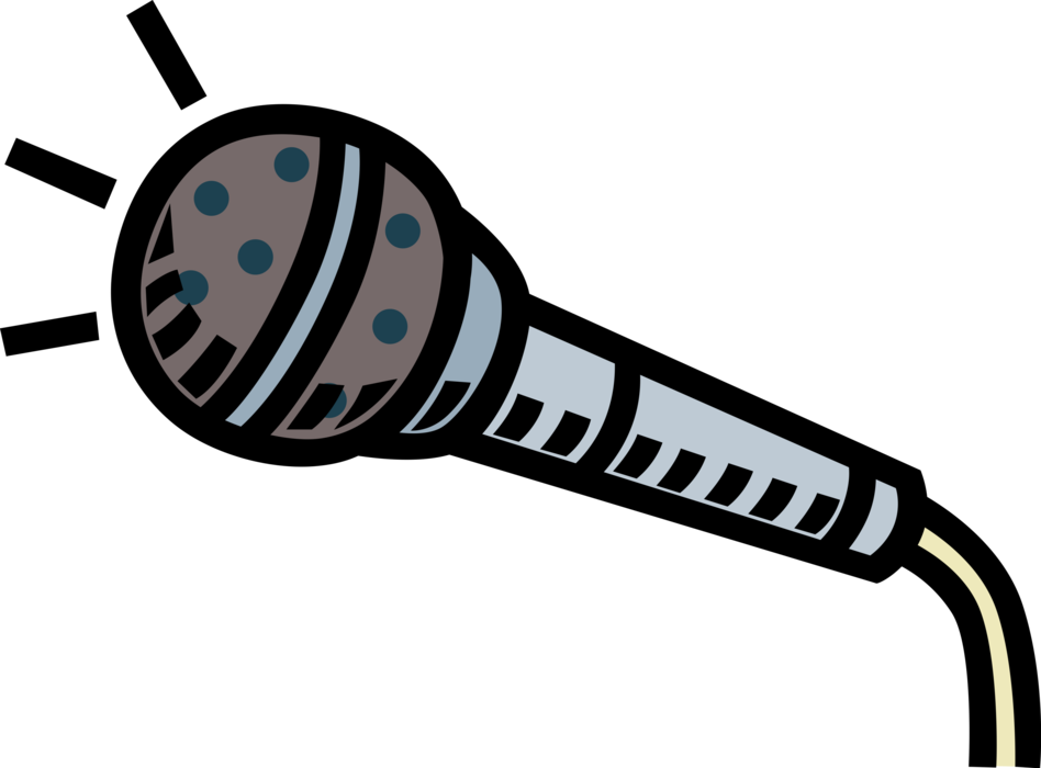 Microphone vector png. Mic image illustration of