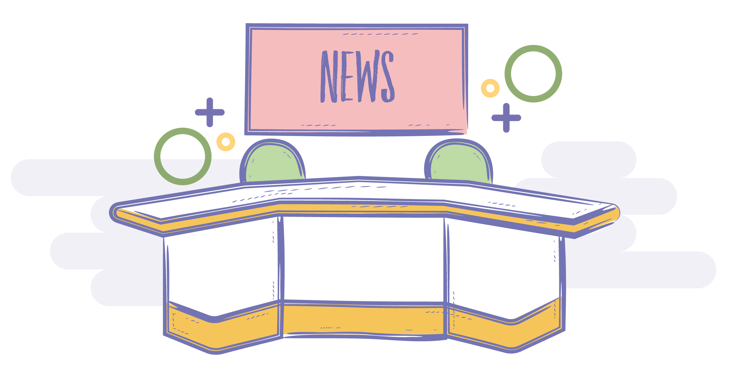 Who we are newsroom. News clipart line